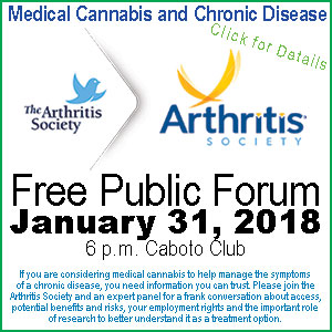 Free Public Forum – Medical Cannabis: What You Need to Know Medical Cannibis and Chronic Pain – What You Need to Know  If you are considering medical cannabis to help manage the symptoms of a chronic disease, you need information you can trust. You have questions: we have answers.
