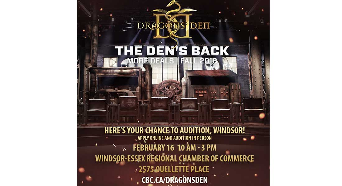 DRAGONS DEN 2018 AUDITIONS WINDSOR